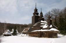 Free Old Wooden Church In Winter Scenic Royalty Free Stock Images - 1668189