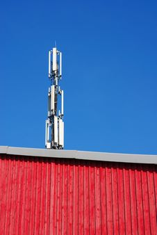 Free Communication Tower And Red Wall Royalty Free Stock Photography - 1668597