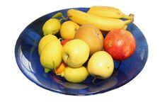Free Blue Bowl With Various Fruits Stock Image - 1668741