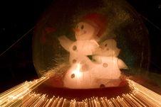 Christmas Lights And Decoration Stock Image