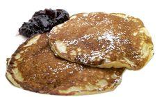 Free Two Pancakes With Jam Stock Photos - 1669033