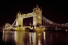 Free Night View On Tower Bridge Stock Photos - 1669143