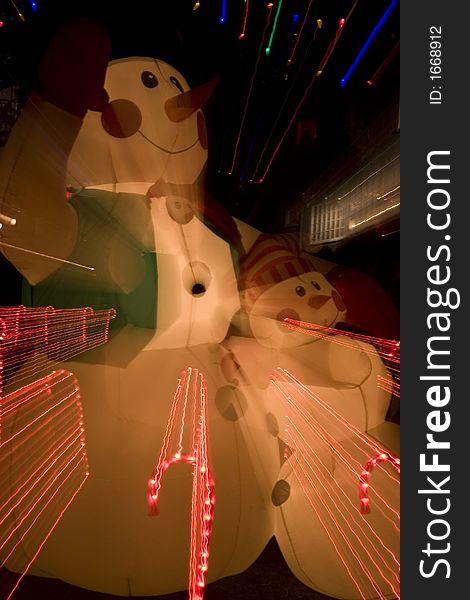 Christmas lights and decoration