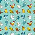Free Seamless Bird Pattern Stock Images - 16603954