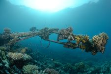 Free Shipwreck In Shallow Water Royalty Free Stock Image - 16600666