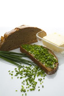 Free Bread Butter And Chives Royalty Free Stock Photo - 16601035