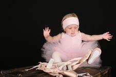 Free Baby Ballerina Royalty Free Stock Image - 16601216