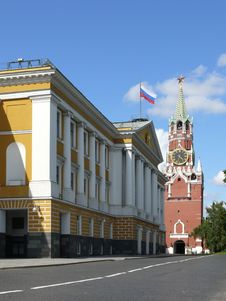 Administration Block In Moscow Kremlin Royalty Free Stock Photography