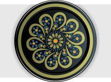Free Khokhloma Style Plate Royalty Free Stock Photo - 16602225