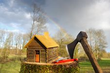 Wooden House Three Stock Image