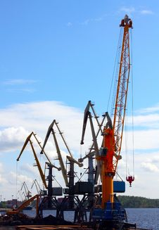 Free Few Port Cranes Stock Photo - 16603090