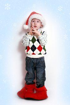 Free Boy With Santa-hat, Smiling Stock Image - 16603211