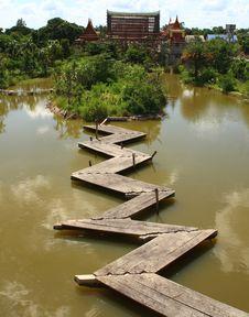 The Wooden Bridge Stock Image