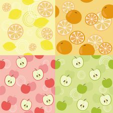 Free Fruits Seamless Pattern Royalty Free Stock Images - 16603629
