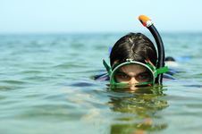 Free The Guy Dive Under Water Stock Photography - 16603632