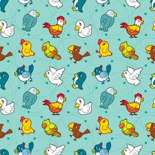 Free Seamless Bird Pattern Stock Images - 16603954