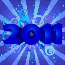 Year 2011  Illustration Royalty Free Stock Images