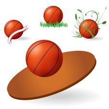 Free Emblem Of Basketball Royalty Free Stock Image - 16605116