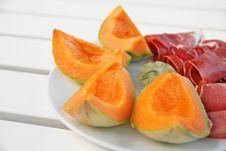 Free Melon And Italian (Parma) Ham Royalty Free Stock Photos - 16605178