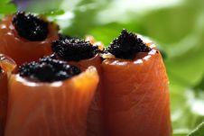 Free Salmon And Caviar Royalty Free Stock Photo - 16605235