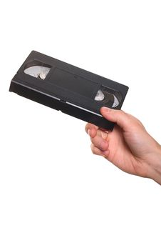 Free Video Cassette In Hand Royalty Free Stock Photo - 16605395