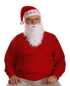 Free Grandfather As A Santa Claus Royalty Free Stock Image - 16605426