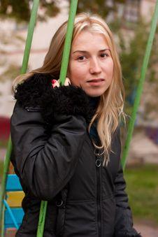 Free Beautiful Young Woman On A Swing Stock Photo - 16605840