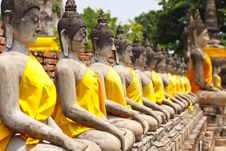 Free Row Of Buddha Momument Stock Images - 16606104
