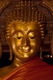 Free Close Up Head Of Big Buddha In The Temple Stock Photo - 16606140