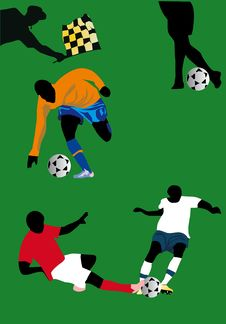 Free Soccer Players Illustration Stock Photos - 16606383