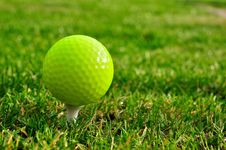 Free Green Golfball Royalty Free Stock Images - 16606709