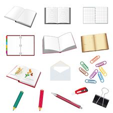 Free Set Of Stationery For The Office Stock Photos - 16607403