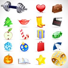 Free Vector Gift Icons. Royalty Free Stock Image - 16607626
