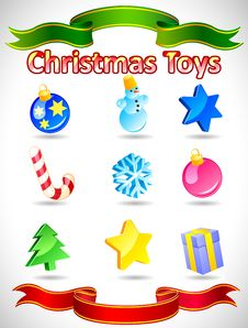 Free Vector Christmas Icons Royalty Free Stock Photo - 16607665