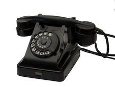Free Old Black Phone Stock Image - 16608081