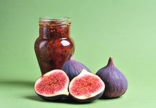 Figs And Jam Stock Photo