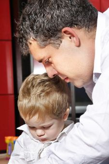 Father And Son At Home Royalty Free Stock Photos