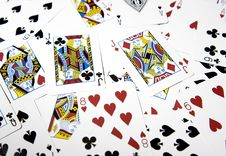Free Mixed Playing Cards Close-up Stock Photo - 16608630