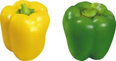 Free Green And Yellow Peppers Royalty Free Stock Photos - 16608638