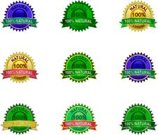 Free Natural Eco Labels Set Stock Image - 16608651