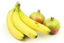 Free Pomegranates With Bananas Stock Photo - 16609050