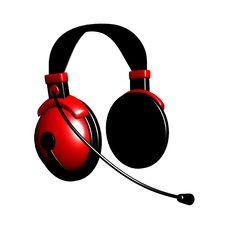 Free 3d Red Headphones Royalty Free Stock Photos - 16609328