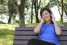 Free Woman Listening To Music Royalty Free Stock Image - 16609336