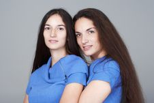 Free Portrait Of Two Sisters Royalty Free Stock Photos - 16609588