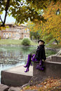 Free Beautiful Girl In The Autumn Park Royalty Free Stock Photos - 16614008