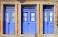Free Old Blue Doors Royalty Free Stock Photos - 16619848