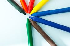 Free Colorful Crayons Stock Photography - 16610012
