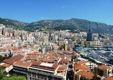 Monaco Mountain View Stock Image