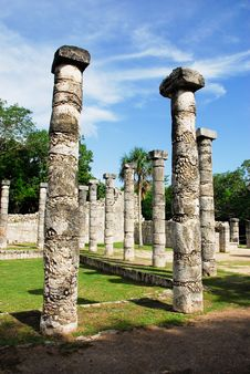 Free Temple Of The Thousand Columns, Chichen Itza Stock Images - 16610634