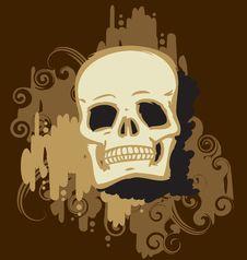 Free Gold Skull Royalty Free Stock Photos - 16611768